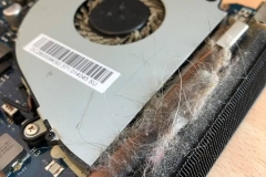 Blocked laptop fan & vent